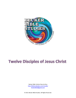 Twelve Disciples of Jesus Christ