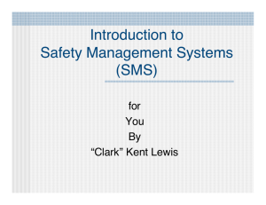 Introduction to Safety Management Systems (SMS)