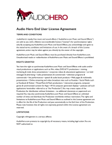 Audio Hero End User License Agreement.pages