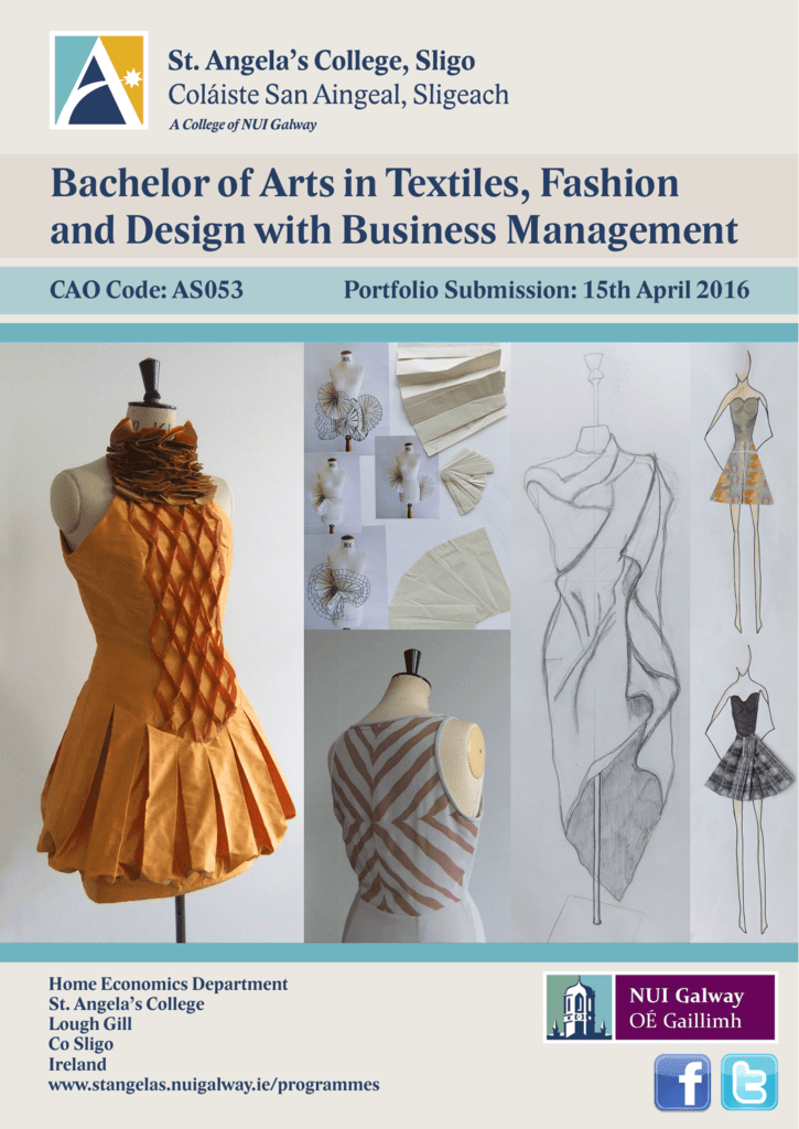 Bachelor Of Arts In Textiles Fashion And Design With Business