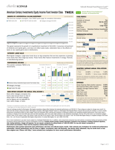 American Century Investments Equity Income Fund Investor