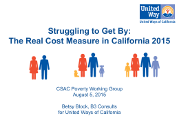 United Way Presentation - California State Association of Counties