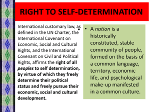 right to self-determination