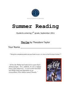 The Cay Summer Packet 2011
