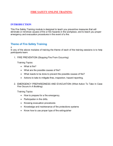 FIRE SAFETY ONLINE TRAINING INTRODUCTION Theme of Fire