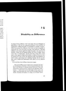 Wendell - Disability as Difference