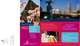 South Korea - Asian Studies Center