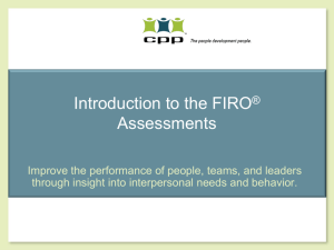 Introduction to the FIRO Assessments
