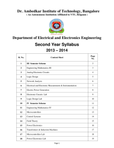 Second Year Syllabus - Dr. Ambedkar Institute of Technology