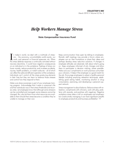 Help Workers Manage Stress - California Association of Collectors