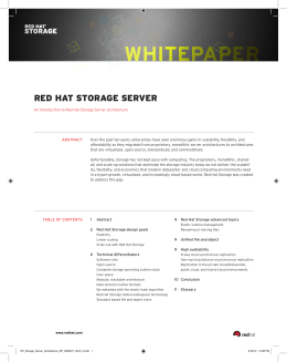 Red Hat Storage Server Architecture White Paper - Shadow-Soft