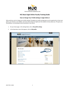 HCC Basic Eagle Online Faculty Training Guide