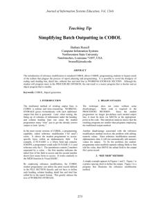 Enterprise COBOL for z/OS, V5 1 1 Programming Guide