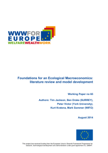 Foundations for an Ecological Macroeconomics