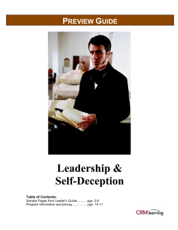 Leadership and Self Deception PG