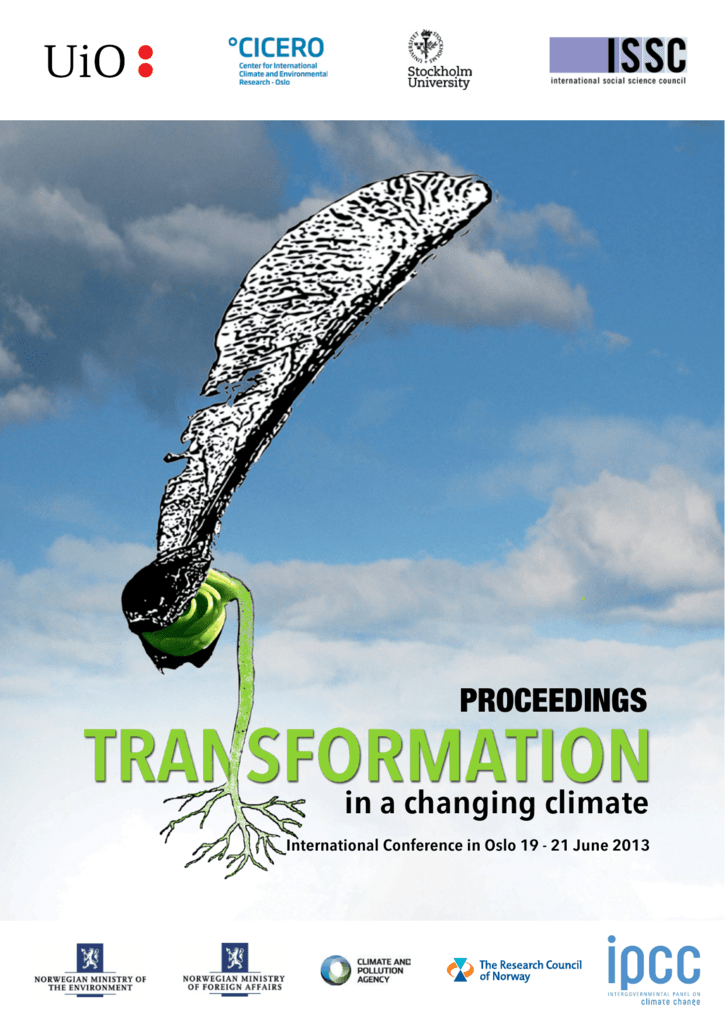 Conference Proceedings - Transformation in a Changing Climate