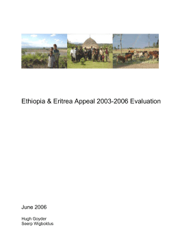 Ethiopia & Eritrea Appeal 2003-2006 Evaluation