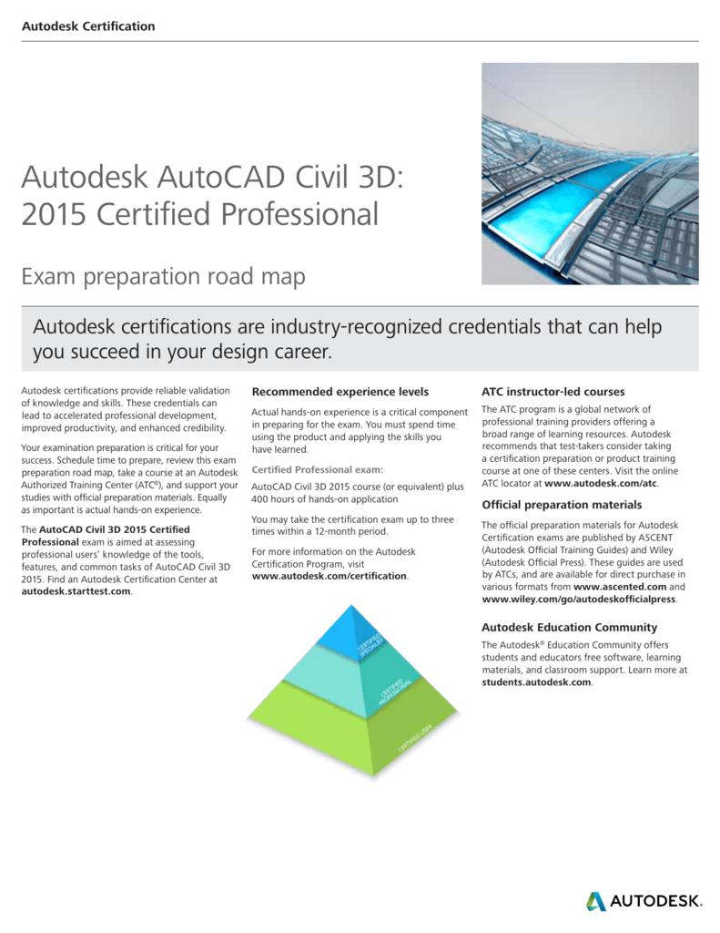 Autodesk AutoCAD Civil 3D: 2015 Certified