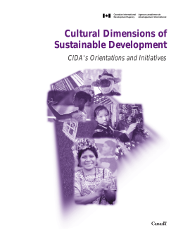 Cultural Dimensions of Sustainable Development