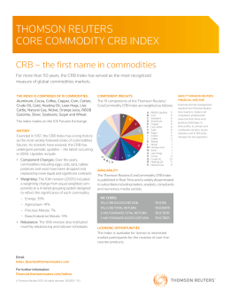Thomson Reuters Core Commodity CRB Index