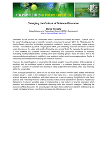 Changing the Culture of Science Education