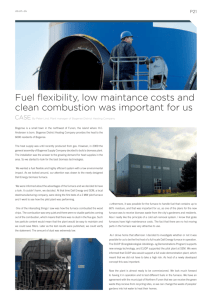Fuel flexibility, low maintance costs and clean