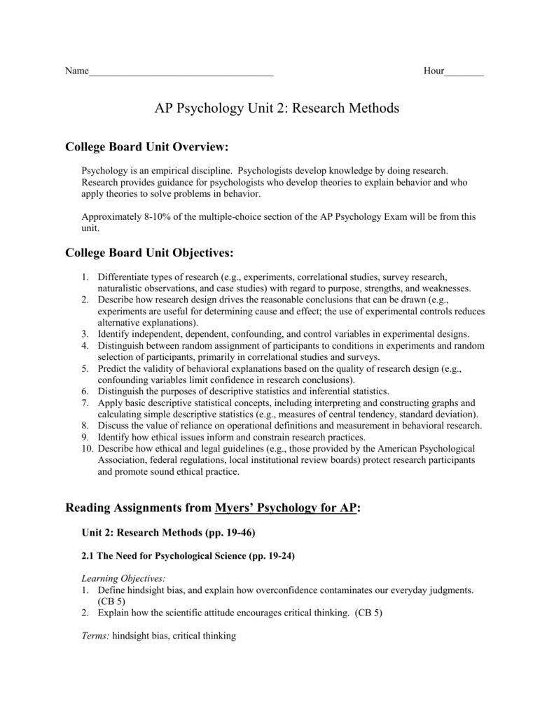 objectives of psychological research