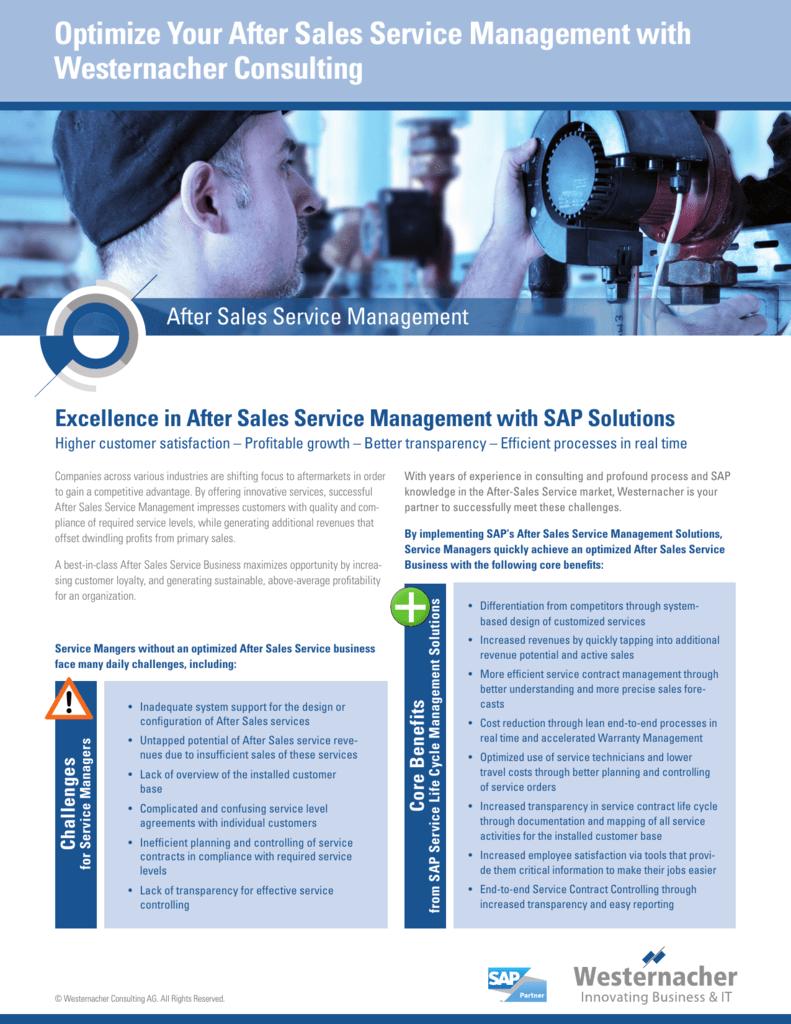 Optimize Your After Sales Service Management