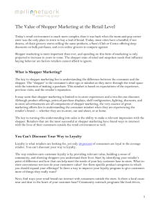 The Value of Shopper Marketing at the Retail Level