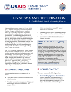hiv stigma and discrimination