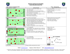 Kentucky Youth Soccer Association Coach Education Lesson Plan