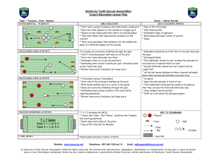 Kentucky Youth Soccer Association Coach Education Lesson Plan 7