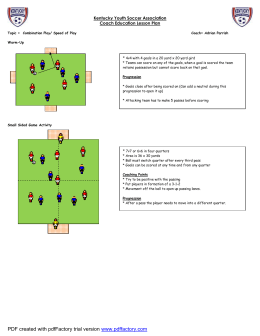 Combination Play - Speed of Play - Illinois Youth Soccer Association