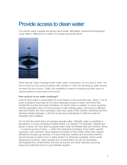 Provide access to clean water