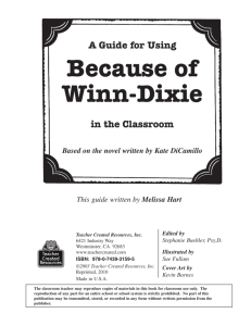 Because of Winn-Dixie - DedicatedTeacher.com