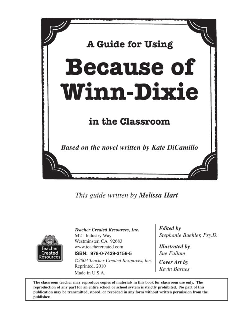 Because of Winn-Dixie - DedicatedTeacher.com