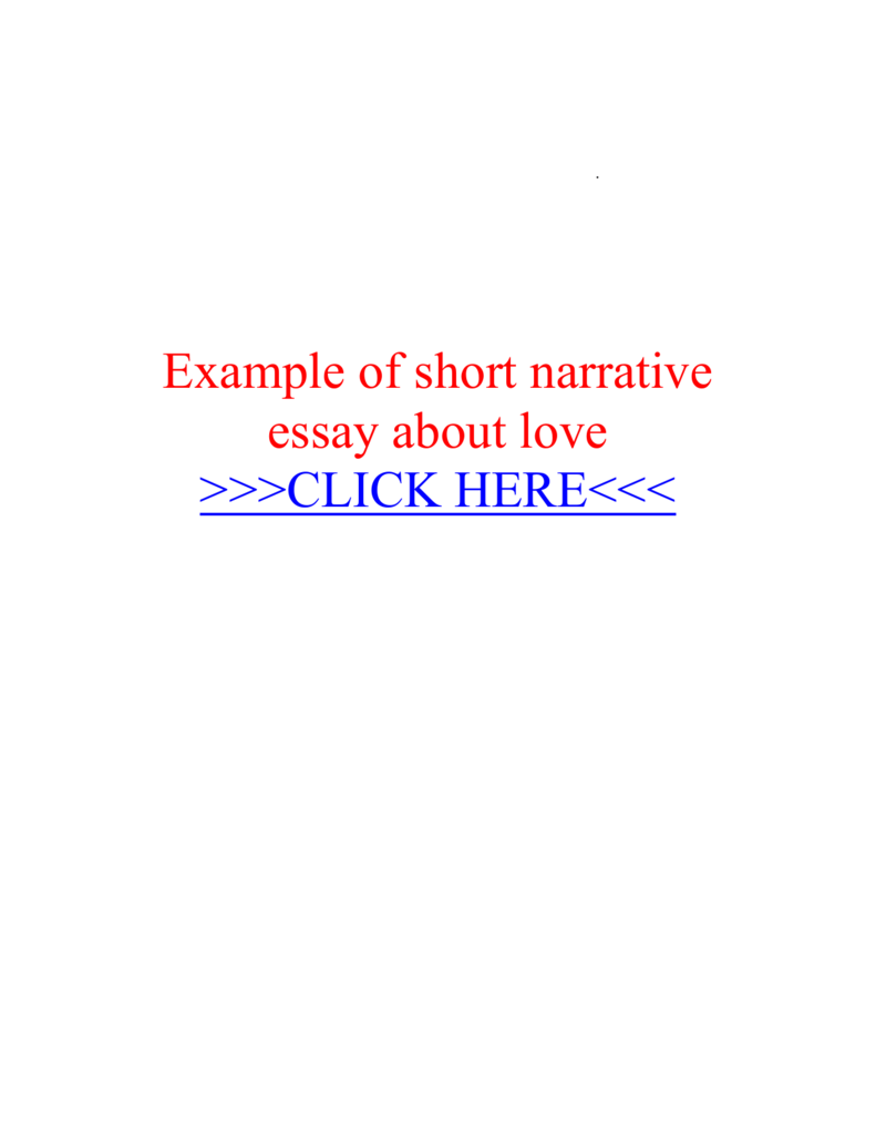 Narrative essay about love