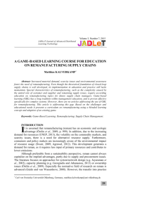 JADLeT - Journal of Advanced Distributed Learning Technologies