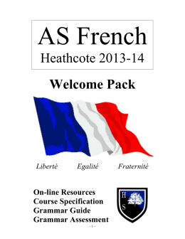 Heathcote 2013-14 Welcome Pack