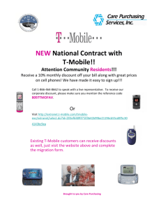 NEW National Contract with T-Mobile!!