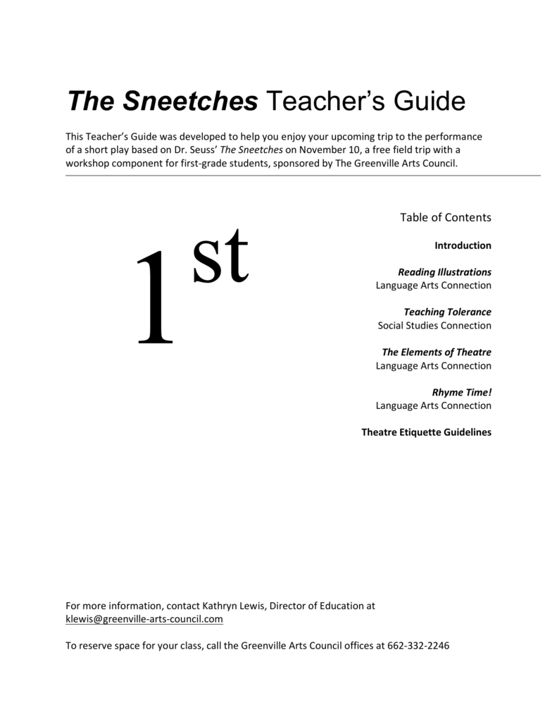 The Sneetches Teacher's Guide