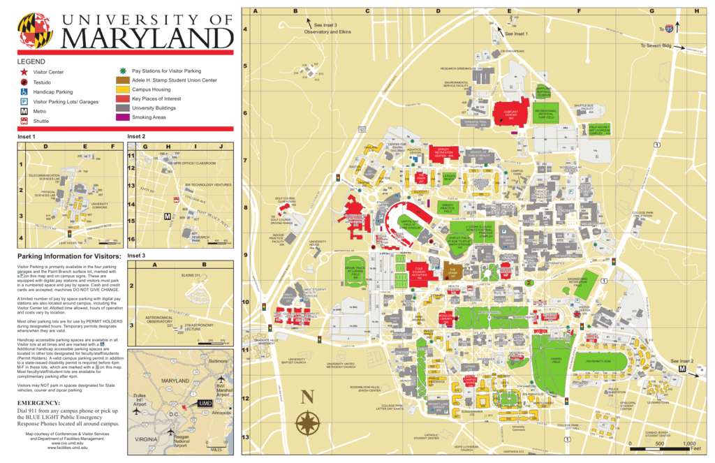 UMD Campus Map   Conferences & Visitor Services