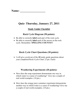 Quiz- Thursday, January 27, 2011
