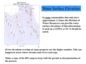 Water Surface Elevation
