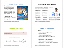 Chapter 21. Superposition