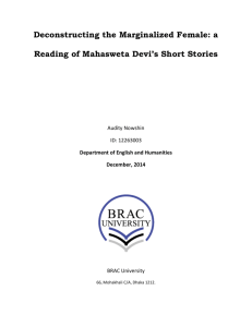 a Reading of Mahasweta Devi's Short Stories
