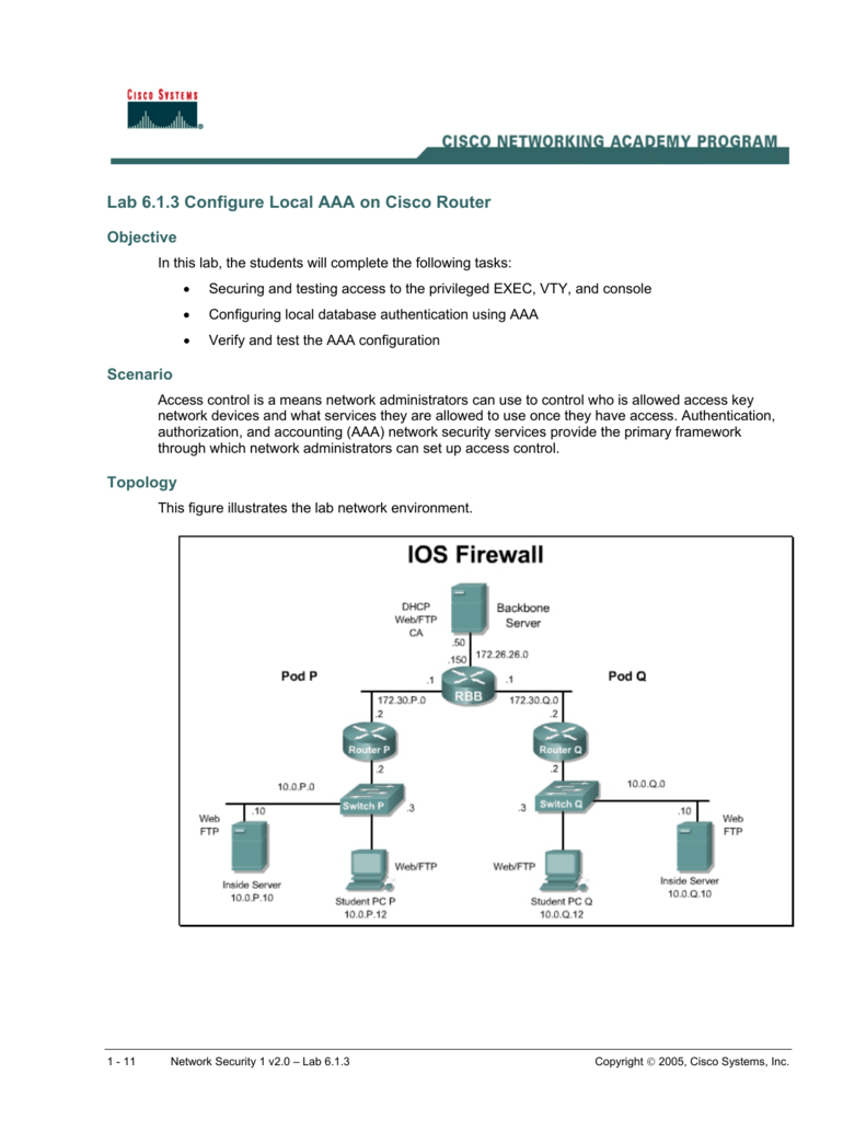 Configure Local AAA on Cisco Router
