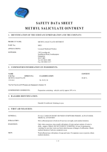SAFETY DATA SHEET METHYL SALICYLATE OINTMENT