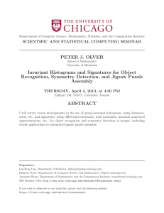 PETER J. OLVER Invariant Histograms and Signatures