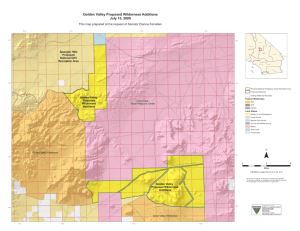 Golden Valley Proposed Wilderness Additions July 15, 2009